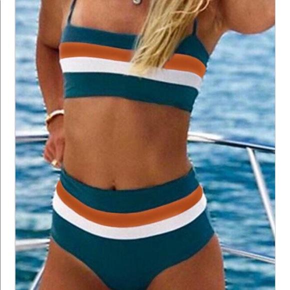 a4e7f34f82912 Beachsissi Swim | New Midwaist Striped Bikini Suit | Poshmark